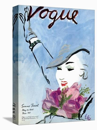 """Vogue Cover - May 1935-Carl """"Eric"""" Erickson-Stretched Canvas"""