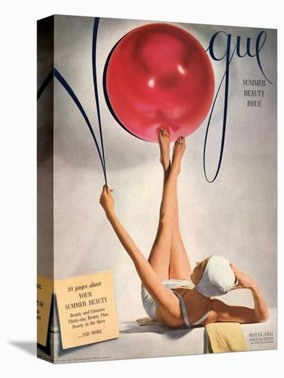 Vogue Cover - May 1941 - Having a Ball-Horst P. Horst-Stretched Canvas