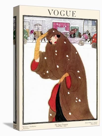Vogue Cover - November 1920-Helen Dryden-Stretched Canvas