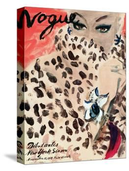 "Vogue Cover - November 1939 - Leopard Love-Carl ""Eric"" Erickson-Stretched Canvas"