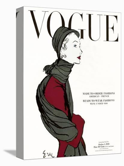 """Vogue Cover - October 1948-Carl """"Eric"""" Erickson-Stretched Canvas"""
