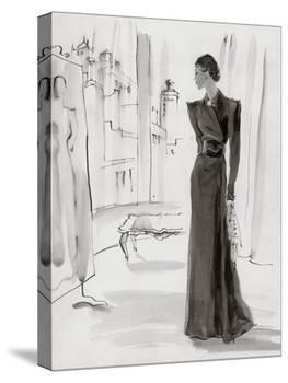 Vogue - November 1936-René Bouét-Willaumez-Stretched Canvas
