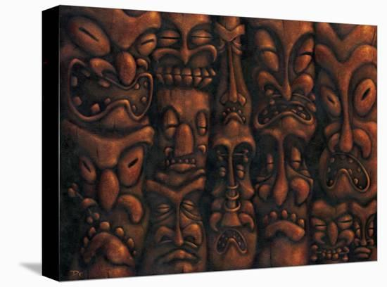 Wall of Tiki I-Dwight Francis-Stretched Canvas Print