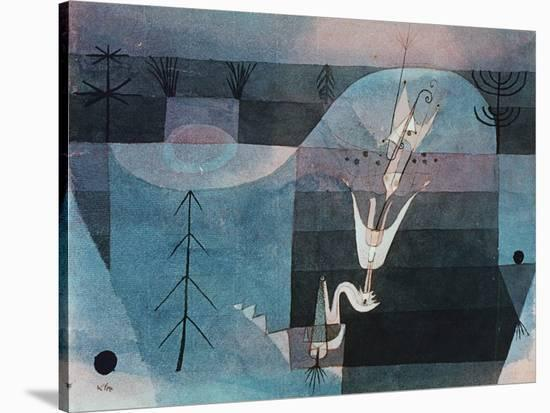 Wallflower (detail)-Paul Klee-Stretched Canvas Print