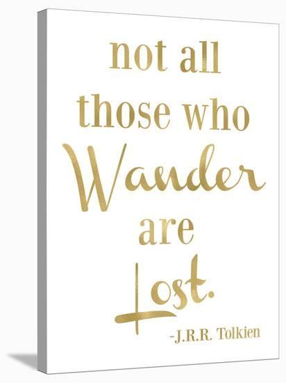 Wander Lost Golden White-Amy Brinkman-Stretched Canvas Print