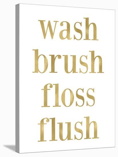 Wash Brush Floss Golden White-Amy Brinkman-Stretched Canvas Print