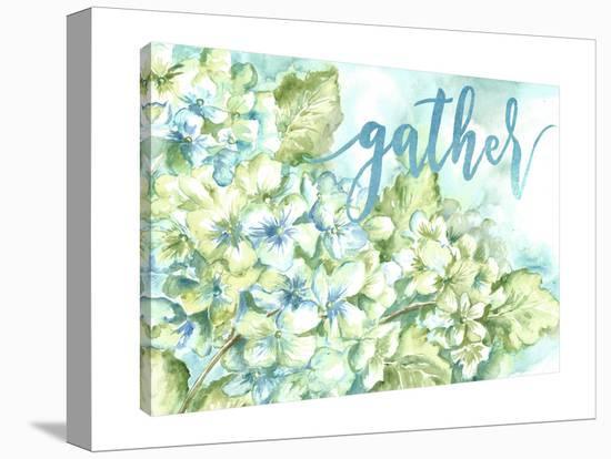 Watercolor Hydrangeas: Gather-Tre Sorelle Studios-Gallery Wrapped Canvas