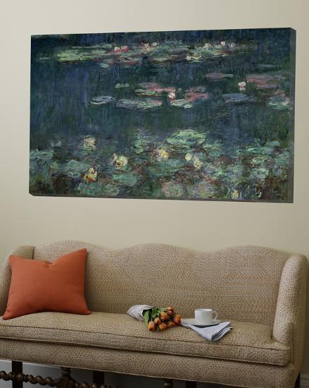 Waterlilies: Green Reflections, 1914-18 (Right Section)-Claude Monet-Loft Art