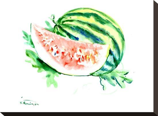 Watermelon-Suren Nersisyan-Stretched Canvas Print