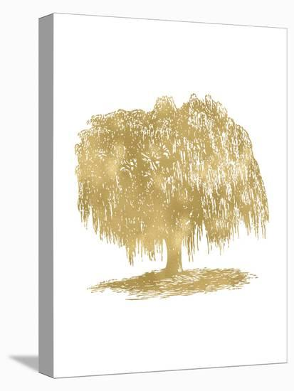 Weeping Willow Tree Golden White-Amy Brinkman-Stretched Canvas Print