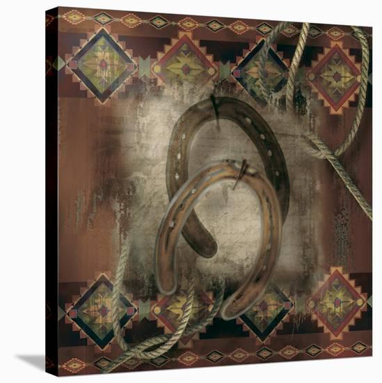 Western Horseshoe-Alma Lee-Stretched Canvas Print