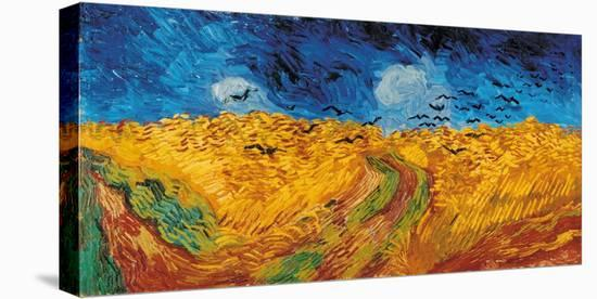 Wheatfield with Crows, c.1890-Vincent van Gogh-Stretched Canvas Print