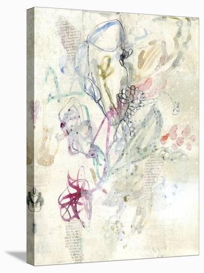 Whimsy Bouquet II-Jennifer Goldberger-Stretched Canvas Print