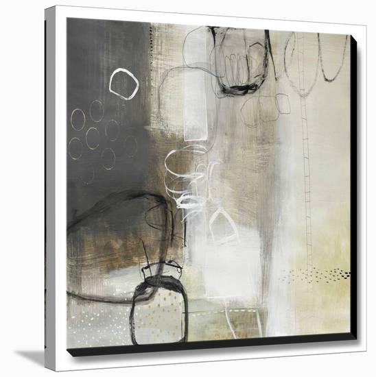 White Pebbles-Natasha Barnes-Stretched Canvas Print