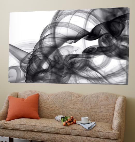 White Smoke Abstract-GI ArtLab-Loft Art