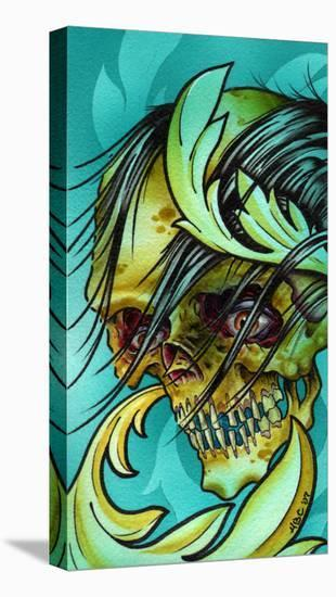 Wicked Skull-Aaron Cox-Stretched Canvas Print