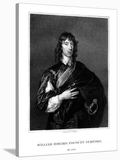 William Howard, 1st Viscount Stafford, Roman Catholic Martyr-T Wright-Stretched Canvas Print