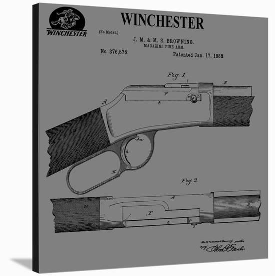 Winchester Magazine Fire Arm,-Dan Sproul-Stretched Canvas Print