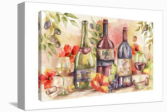 Wine and Poppies-Tre Sorelle Studios-Gallery Wrapped Canvas