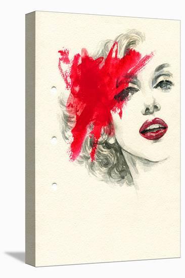 Woman Face PaintedIllustration--Stretched Canvas Print