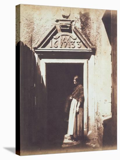 Woman in Doorway, C.1854-Thomas Keith-Stretched Canvas Print