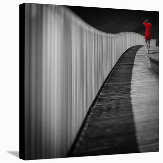Woman In Red-Marco Antonio-Stretched Canvas Print