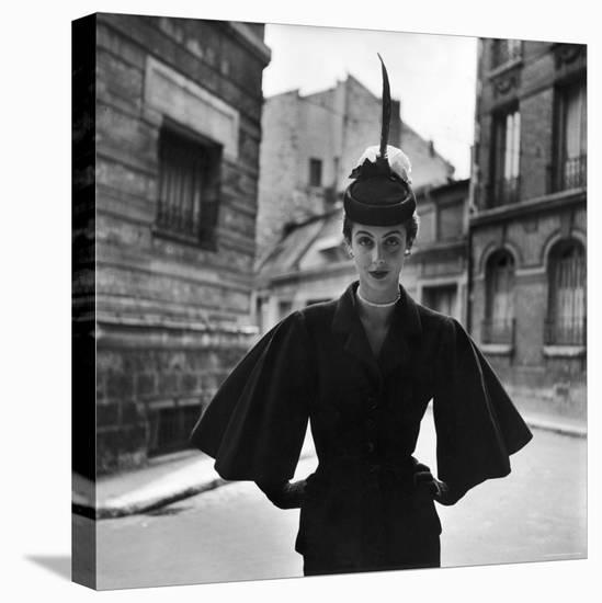 Woman Modeling a Full Sleeved Suit-Gordon Parks-Stretched Canvas Print