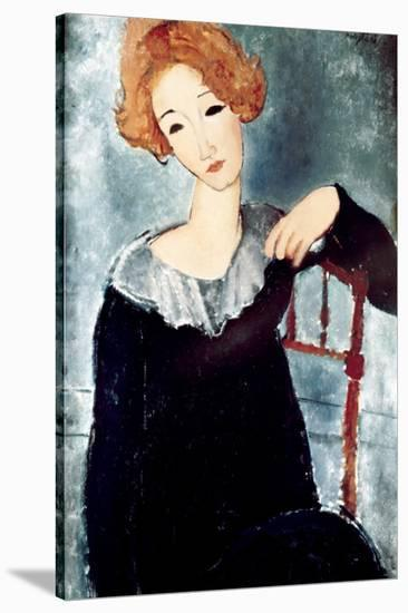 Woman with Red Hair-Amedeo Modigliani-Stretched Canvas Print