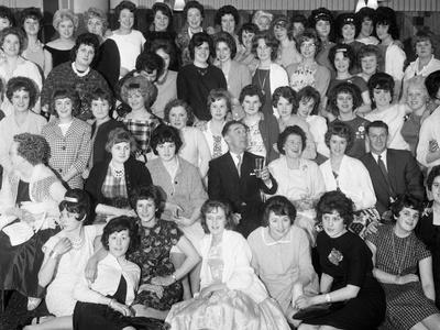Women from the Ici Doncaster Plant at a Social Gathering, South Yorkshire 1962-Michael Walters-Stretched Canvas Print