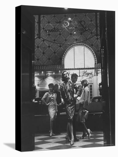 Women Modeling Evening Suits-Gordon Parks-Stretched Canvas Print