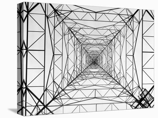 WOR Radio Transmitting Tower-Margaret Bourke-White-Stretched Canvas Print