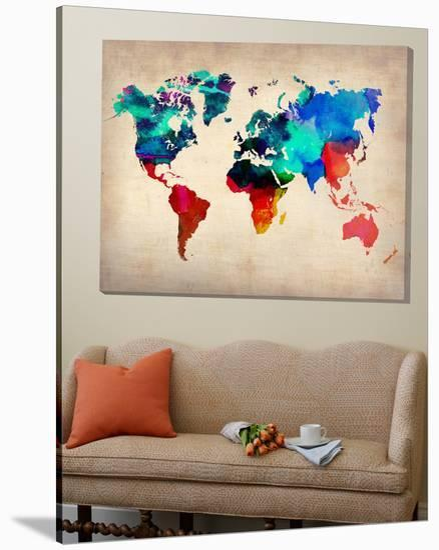 World Watercolor Map 1-Unknown NaxArt-Loft Art