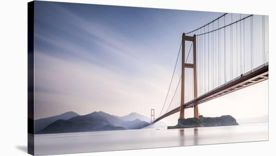 Xihou Bridge & Moon Bay-Qing Ai-Stretched Canvas Print