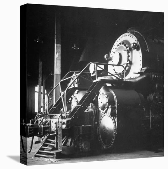 Y-6 Compound Mallet Freight Steam Locomotive Belonging to the Norfolk and Western Railway-Walker Evans-Stretched Canvas Print