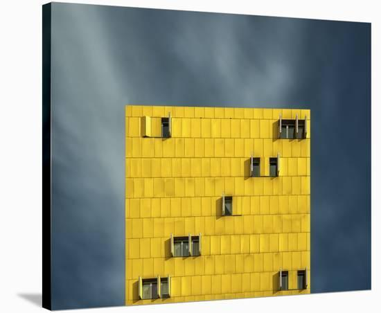 Yellow And Blue-Vladi Garcia-Stretched Canvas Print