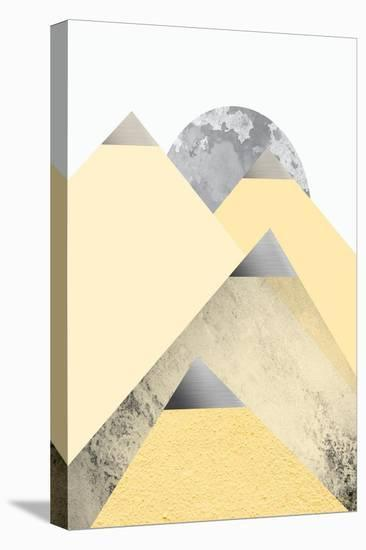 Yellow and Grey Mountains 2-Urban Epiphany-Stretched Canvas Print
