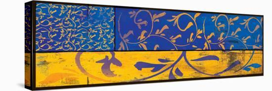 Yellow Blue Tapestry-Lillian Pasenar-Stretched Canvas Print