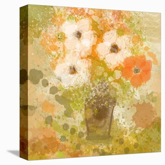 Yellow Flowers in Vase-Irena Orlov-Stretched Canvas Print