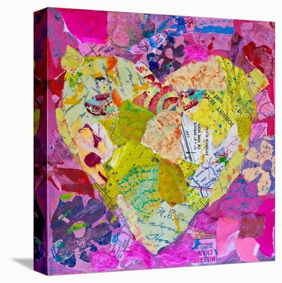 Yellow Heart--Stretched Canvas Print