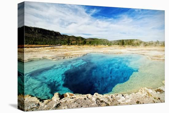 Yellowstone Sapphire Pool-www.infinitahighway.com.br-Stretched Canvas Print