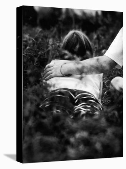 Young Couple at Woodstock Music Festival-Bill Eppridge-Stretched Canvas Print