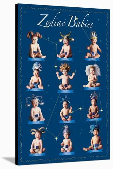 Zodiac Babies-Tom Arma-Stretched Canvas Print