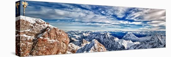 Zugspitze & Mountains Germany--Stretched Canvas Print
