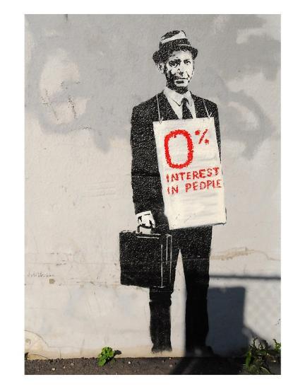 0% Interest-Banksy-Art Print