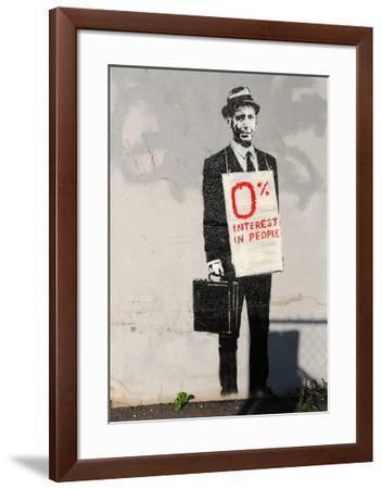 0% Interest-Banksy-Framed Giclee Print