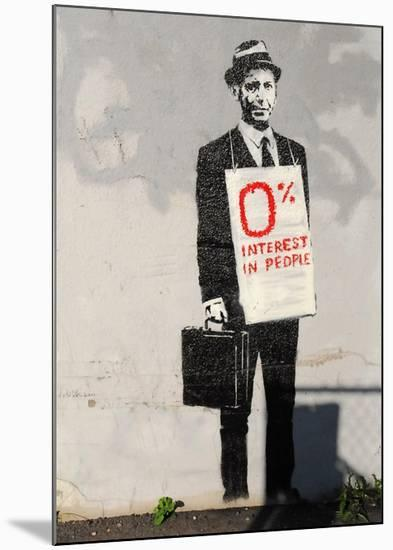 0% Interest-Banksy-Mounted Giclee Print