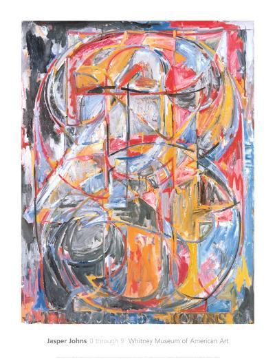 0 Through 9, 1961-Jasper Johns-Art Print