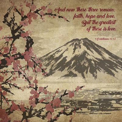1 Corinthians 13:13 Faith, Hope and Love (Japanese)-Inspire Me-Art Print