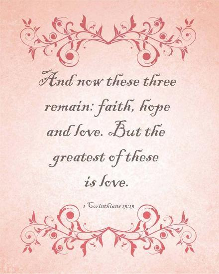 1 Corinthians 13:13 Faith, Hope and Love (Pink)By Inspire Me