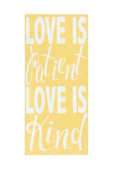 1 Corinthians 13 Buttter Yellow-Alli Rogosich-Art Print